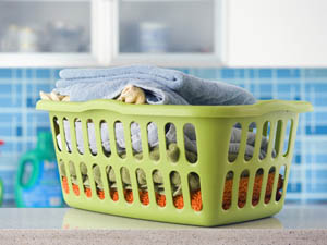 Picture of a Basket with Laundry